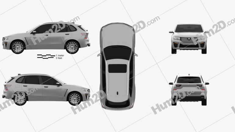 Generic SUV 2019 car clipart
