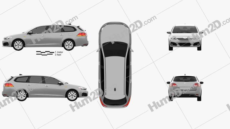 Generic wagon 2014 car clipart