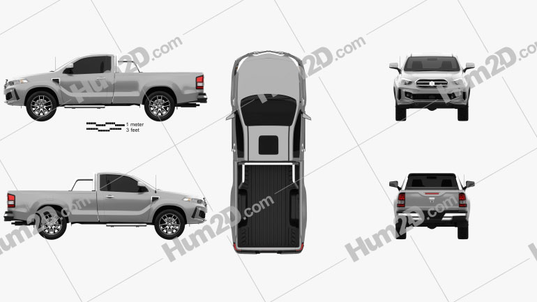 Generic Single Cab pickup 2016 car clipart