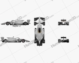 Generic Super Formula One car 2020 car clipart