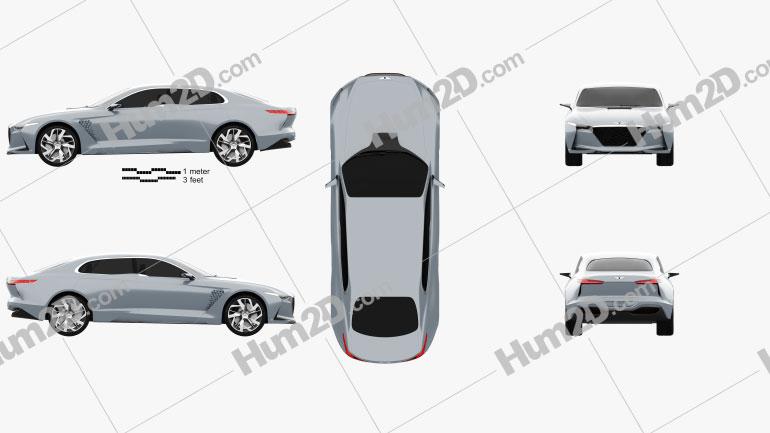 Genesis New York 2016 car clipart
