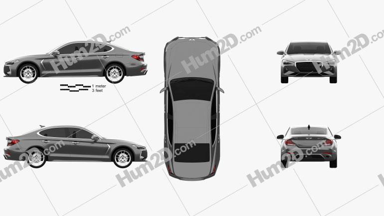 Genesis G70 2018 car clipart