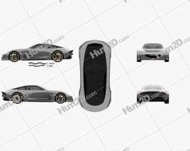 Genesis Essentia 2018 car clipart
