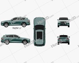 Genesis GV80 2020 car clipart