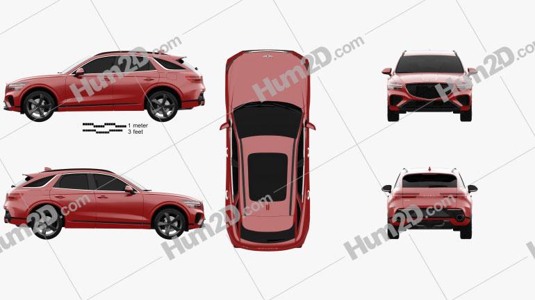 Genesis GV70 Sport 2021 car clipart