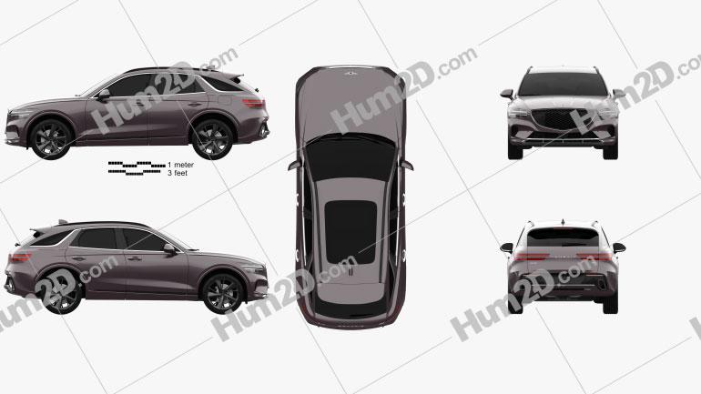 Genesis GV70 2021 car clipart