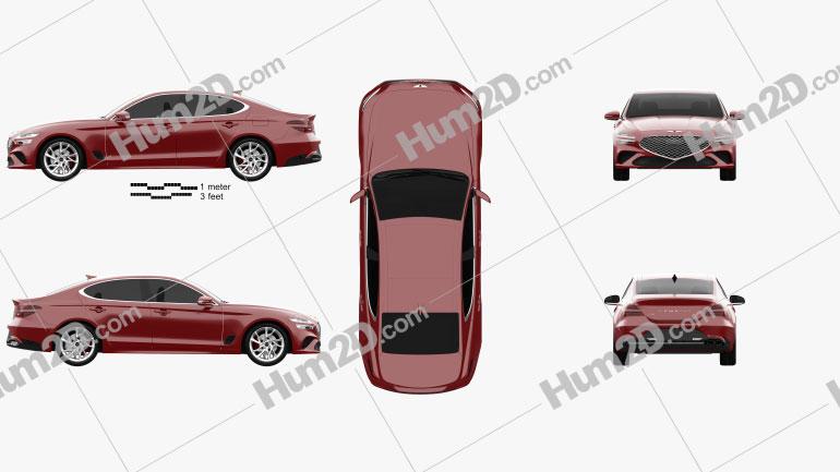 Genesis G70 2022 car clipart