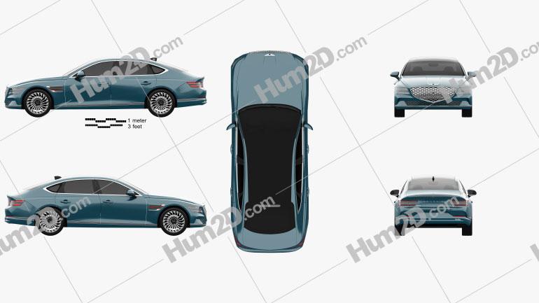 Genesis G80 Electrified 2022 car clipart