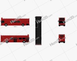 Gillig Low Floor Double Decker Bus 2012 clipart