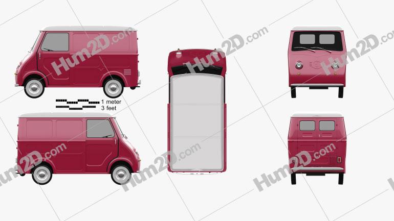 Goggomobil TL 250 (TL 400) Transporter Van 1956 Clipart Bild