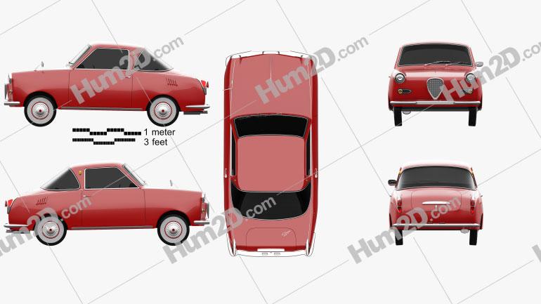 Goggomobil TS 250 Coupe 1957 car clipart