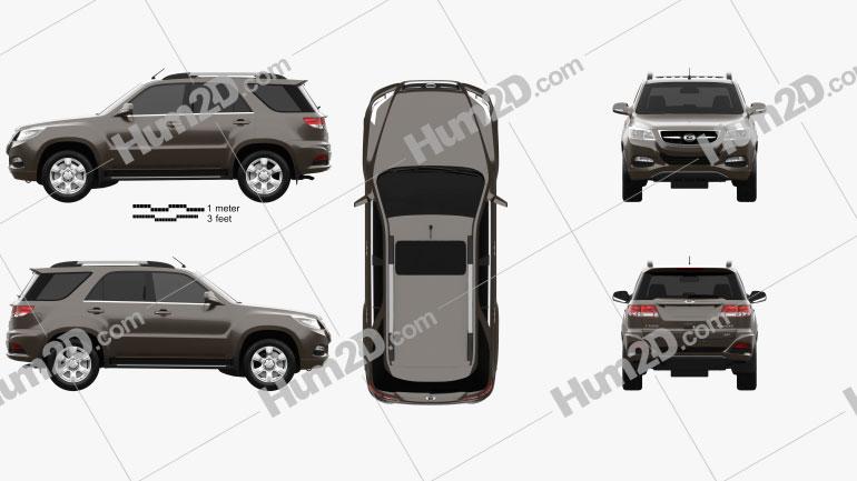 Gonow GX5 2012 car clipart