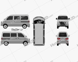 Gonow Minivan 2009 clipart