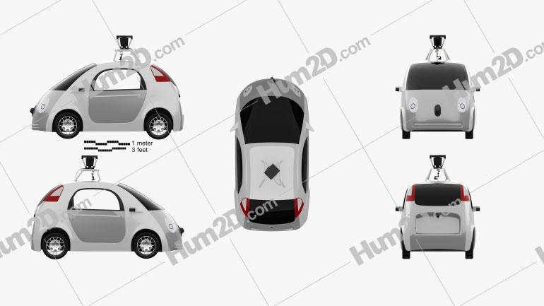 Google Self-Driving Car 2014 Clipart Image