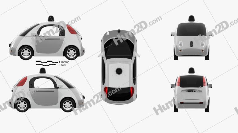 Google Self-Driving Car 2015 car clipart