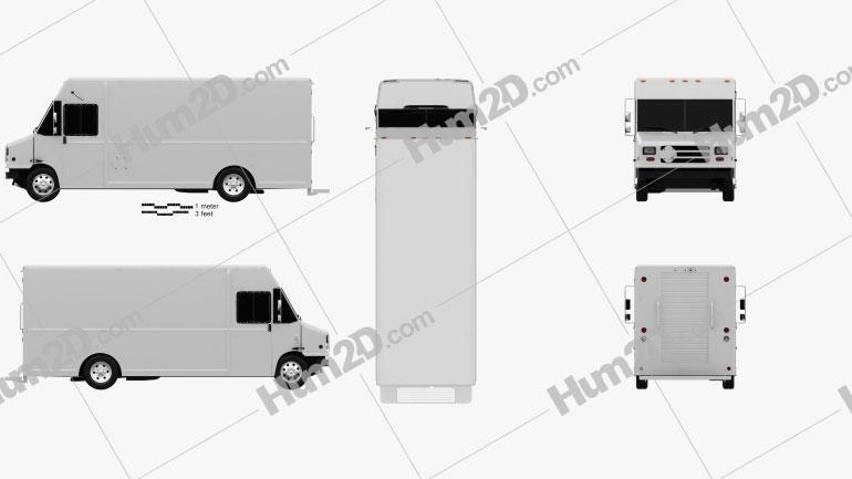 Grumman Van 2017 Clipart Image