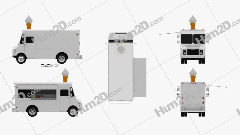 Grumman Kurbmaster Ice-Cream Van 2016 clipart