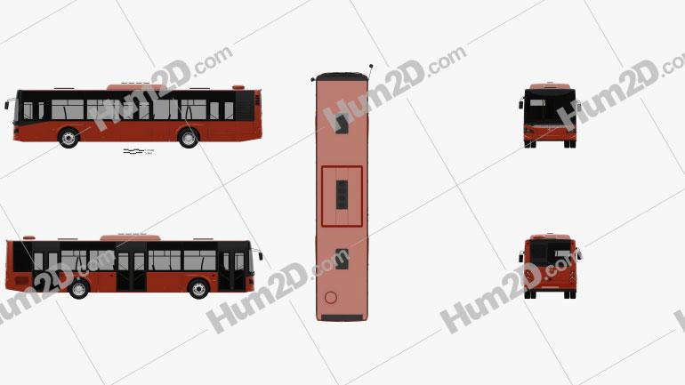 Guleryuz Cobra GD-272 LF Bus 2017 clipart