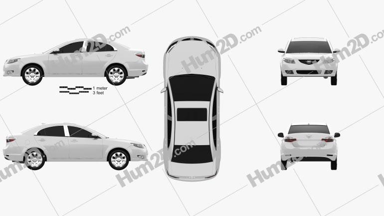 Haima Family 2012 car clipart