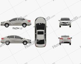 Haima M3 2013 car clipart