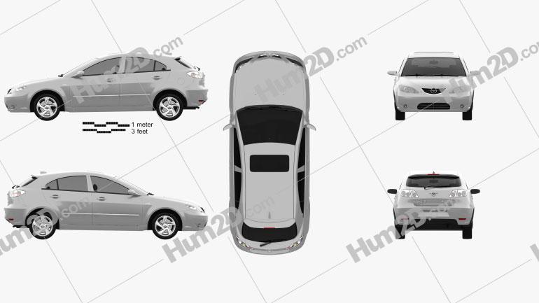 Haima 3 hatchback 2008
