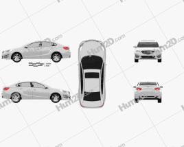 Haima M5 2014 car clipart