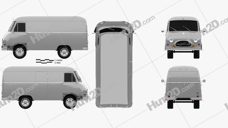 Hanomag Kurier Kastenwagen 1958 clipart