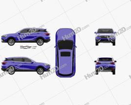 Hanteng X5 2017 car clipart