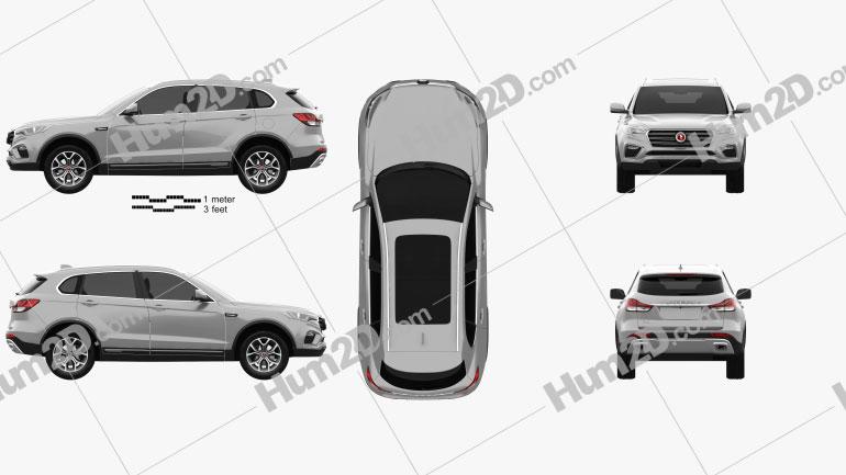 Hanteng X7 PHEV 2017 car clipart