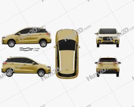 Hanteng Xingfu e plus 2019 car clipart