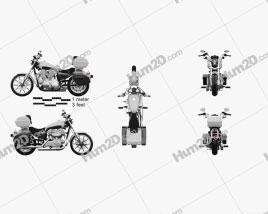 Harley-Davidson XL883L Polícia 2013 Moto clipart