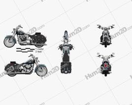 Harley-Davidson FLSTS Heritage Springer 2002 Clipart