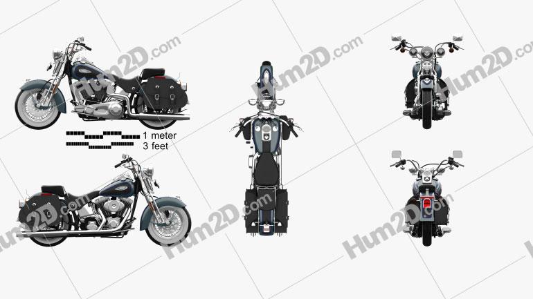 Harley-Davidson FLSTS Heritage Springer 2002 Clipart Image