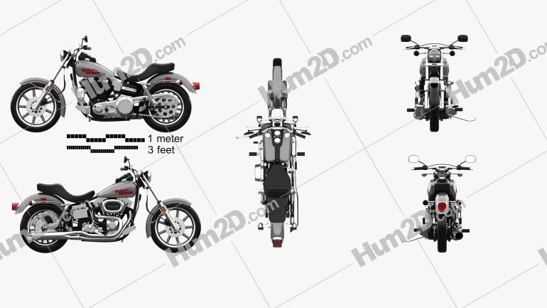 Harley-Davidson FXS Low Rider 1980 Moto clipart