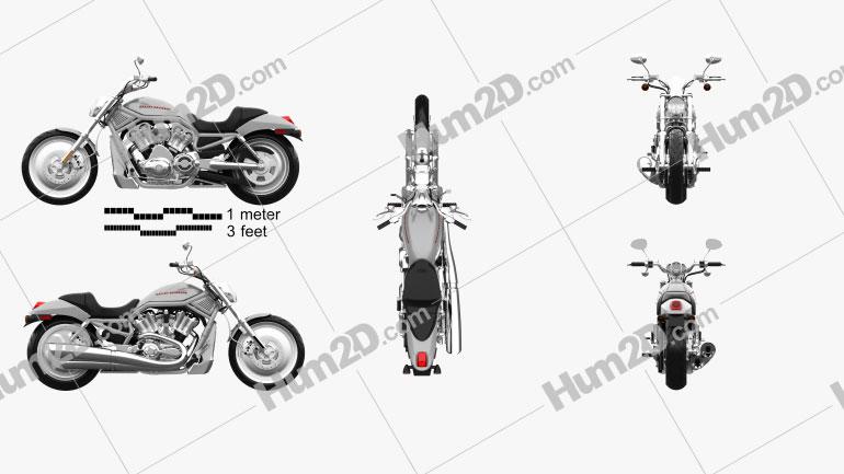 Harley-Davidson VRSCA V-Rod 2002 Clipart Image