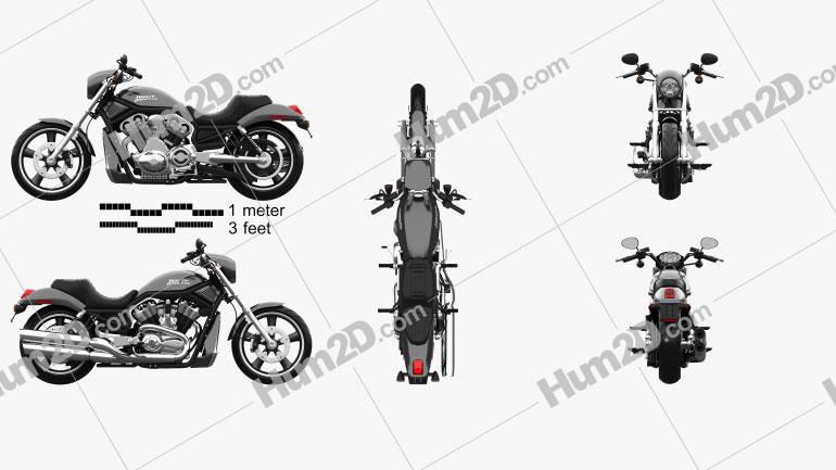Harley-Davidson VRSCD Night Rod 2006 Clipart Image