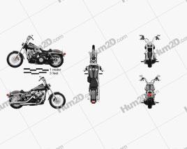 Harley-Davidson FXDB Dyna Street Bob 2006 Motorcycle clipart
