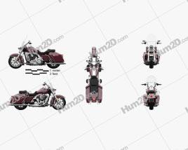 Harley-Davidson FLHR Road King 1994 Motorcycle clipart