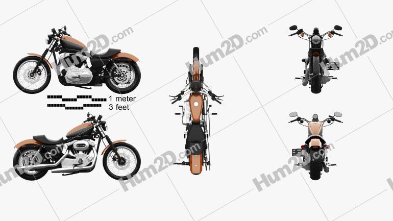 Harley-Davidson Sportster XL 1200 N Nightster 1986 Motorcycle clipart