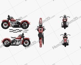 Harley-Davidson Panhead E F 1948 Motorcycle clipart