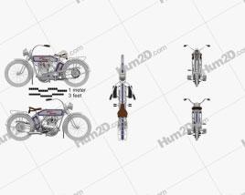Harley-Davidson 10F Motorcycle clipart