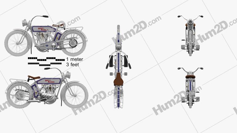 Harley-Davidson 10F Motorrad clipart