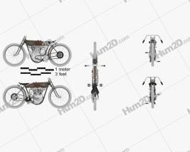 Harley-Davidson 11 K Racer 1915 Motorcycle clipart