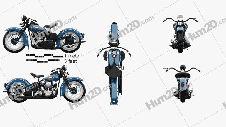 Harley-Davidson Knuchlehead OHV 1941 Motorrad clipart
