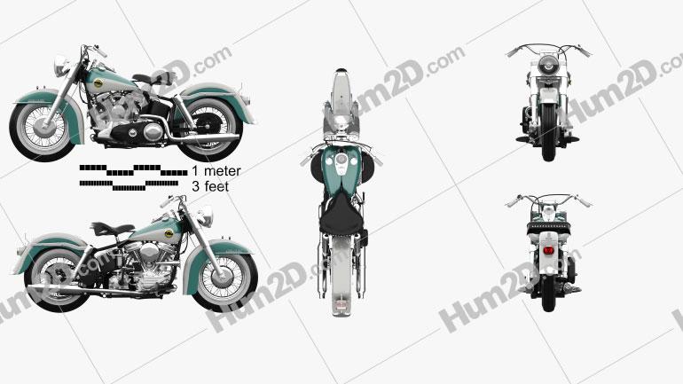Harley-Davidson Panhead FLH Duo-Glide 1958 Motorrad clipart