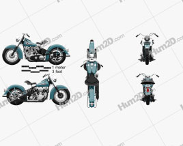 Harley-Davidson Panhead Hydra-Glide E F 1949 Motorcycle clipart