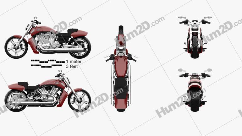Harley-Davidson V-Rod Muscle 2010 Motorcycle clipart