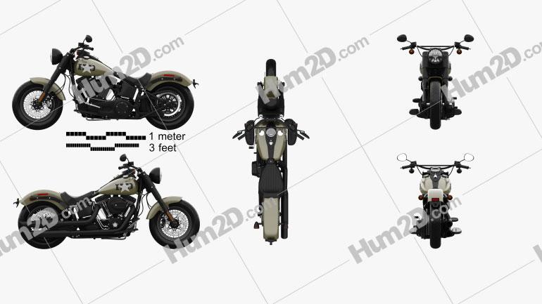 Harley-Davidson Softail Slim 2016 Clipart Image