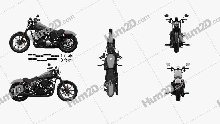 Harley-Davidson Sportster Iron 883 2016 Moto clipart