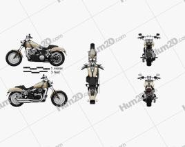 Harley-Davidson Dyna Fat Bob 2016 Motorcycle clipart